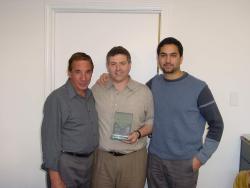 de Izquierda a derecha: Rodolfo Giangrasso, Ricardo Basta Eichberg, Ezequiel Safdie