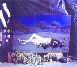 Difunta Correa, óleo collage,1976. 1,60 x 2,40 m