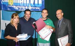 Roxana y Pablo Garriga con Matias C. López Vega y Oscar I. Márquez