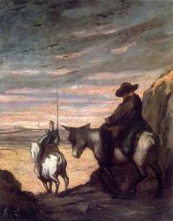 don Quijote por Honoré Daumier