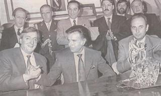 Kirchner, Menem y Manzano