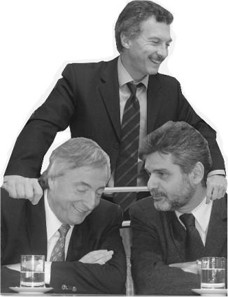 Macri, Kirchner y Filmus