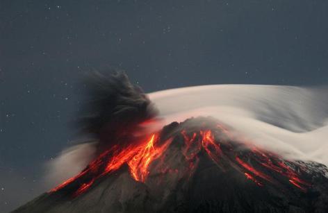 Como un volcán